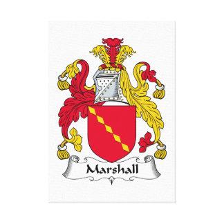 Escudo de la familia de Marshall Impresiones En Lona Estiradas