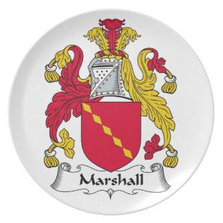 Escudo de la familia de Marshall Plato De Cena