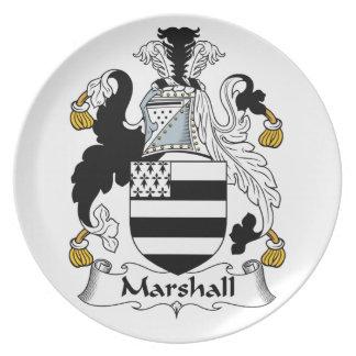 Escudo de la familia de Marshall Platos De Comidas