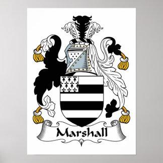 Escudo de la familia de Marshall Póster