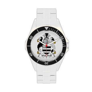 Escudo de la familia de Marshall Reloj