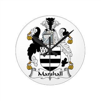 Escudo de la familia de Marshall Reloj Redondo Mediano