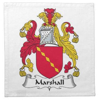 Escudo de la familia de Marshall Servilleta De Papel