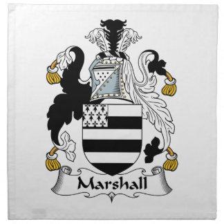 Escudo de la familia de Marshall Servilletas De Papel