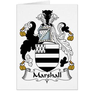 Escudo de la familia de Marshall Tarjeta De Felicitación