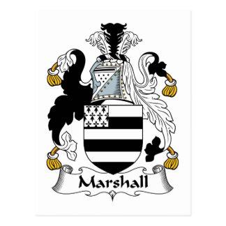 Escudo de la familia de Marshall Tarjetas Postales