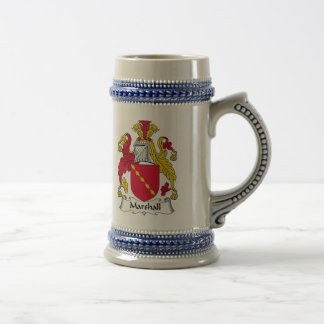 Escudo de la familia de Marshall Tazas De Café