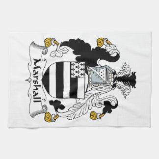 Escudo de la familia de Marshall Toalla De Mano