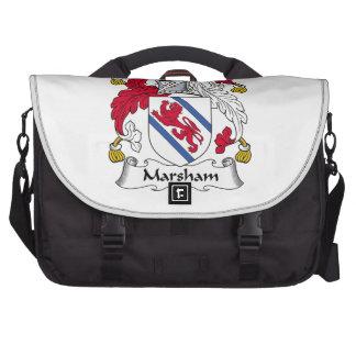 Escudo de la familia de Marsham Bolsa Para Ordenador