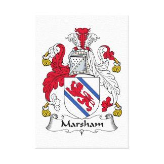 Escudo de la familia de Marsham Lona Envuelta Para Galerias
