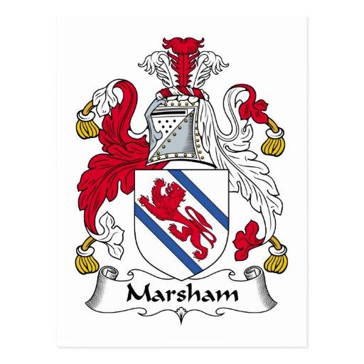 Escudo de la familia de Marsham Postales
