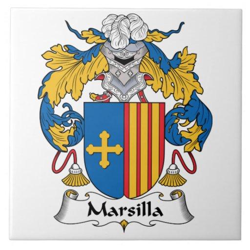 Escudo de la familia de Marsilla Tejas Cerámicas