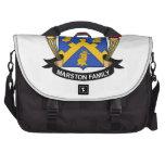 Escudo de la familia de Marston Bolsas Para Ordenador