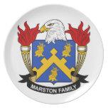 Escudo de la familia de Marston Platos Para Fiestas