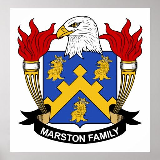 Escudo de la familia de Marston Posters