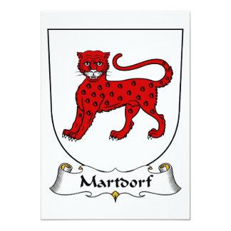 Escudo de la familia de Martdorf Invitacion Personal