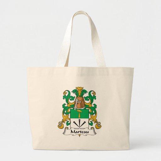 Escudo de la familia de Marteau Bolsa Tela Grande