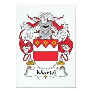 """Escudo de la familia de Martel Invitación 5"""" X 7"""""""