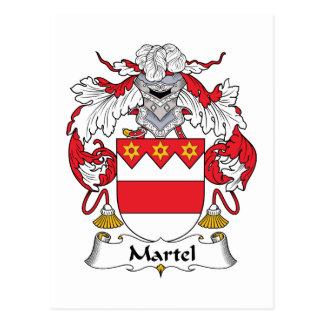 Escudo de la familia de Martel Postal