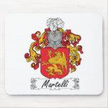 Escudo de la familia de Martelli Tapetes De Ratones