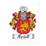 Escudo de la familia de Martelli Tarjeta Postal