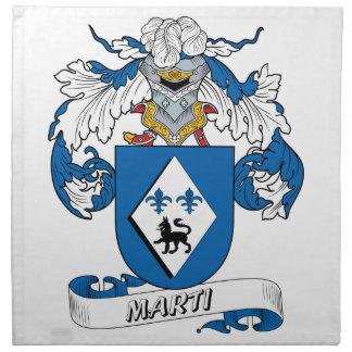 Escudo de la familia de Marti Servilleta Imprimida