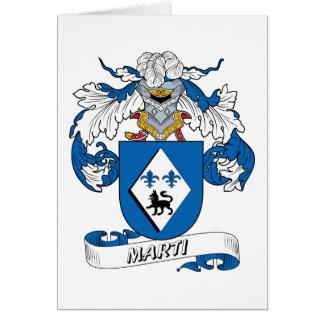 Escudo de la familia de Marti Tarjeta De Felicitación