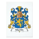 Escudo de la familia de Martin Invitación Personalizada