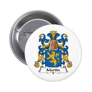Escudo de la familia de Martin Pin Redondo De 2 Pulgadas