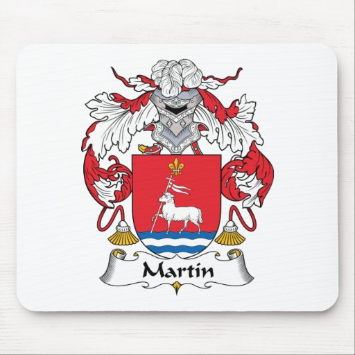 Escudo de la familia de Martin Tapetes De Ratón