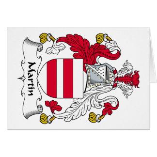 Escudo de la familia de Martin Tarjeta De Felicitación