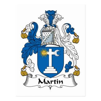 Escudo de la familia de Martin Tarjetas Postales