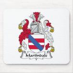 Escudo de la familia de Martindale Tapete De Ratones