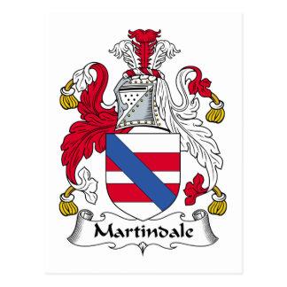 Escudo de la familia de Martindale Tarjeta Postal