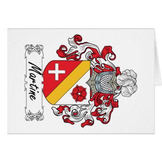 Escudo de la familia de Martine Felicitaciones