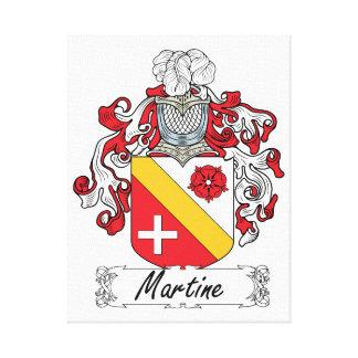 Escudo de la familia de Martine Impresión En Lona