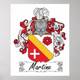 Escudo de la familia de Martine Impresiones