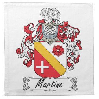 Escudo de la familia de Martine Servilletas