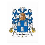 Escudo de la familia de Martineau Postales
