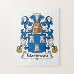 Escudo de la familia de Martineau Puzzle Con Fotos