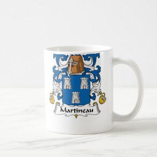 Escudo de la familia de Martineau Tazas De Café