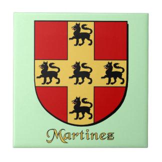 Escudo de la familia de Martínez Azulejo Cuadrado Pequeño