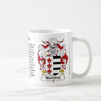 Escudo de la familia de Martínez en una taza