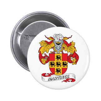Escudo de la familia de Martínez Pin Redondo De 2 Pulgadas