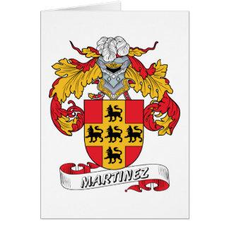 Escudo de la familia de Martínez Tarjeta De Felicitación