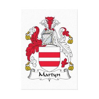 Escudo de la familia de Martyn Impresiones En Lienzo Estiradas