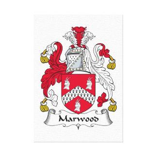 Escudo de la familia de Marwood Impresiones De Lienzo