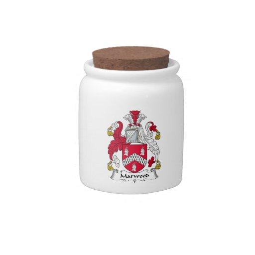 Escudo de la familia de Marwood Tarro De Cerámica Para Dulces