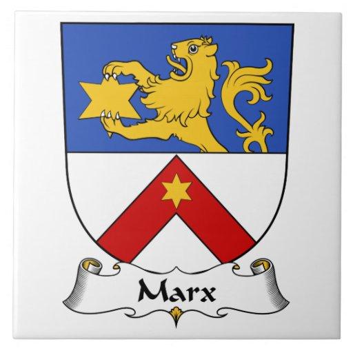 Escudo de la familia de Marx Azulejo Cuadrado Grande