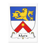 Escudo de la familia de Marx Lona Envuelta Para Galerias